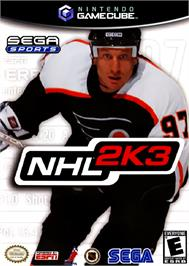 Box cover for NHL 2K3 on the Nintendo GameCube.