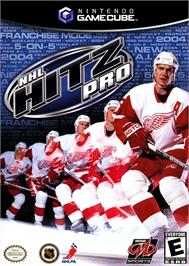 Box cover for NHL Hitz Pro on the Nintendo GameCube.