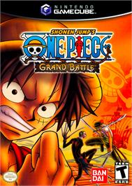 Box cover for One Piece: Grand Battle on the Nintendo GameCube.