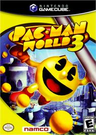 Box cover for Pac-Man World 3 on the Nintendo GameCube.