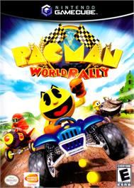 Box cover for Pac-Man World Rally on the Nintendo GameCube.