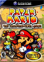 Box cover for Paper Mario: The Thousand-Year Door on the Nintendo GameCube.