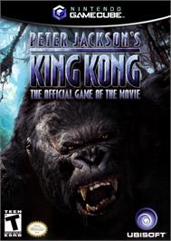 Box cover for Peter Jackson's King Kong: The Official Game of the Movie on the Nintendo GameCube.