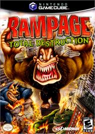 Box cover for Rampage: Total Destruction on the Nintendo GameCube.