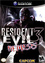 Box cover for Resident Evil 3: Nemesis on the Nintendo GameCube.