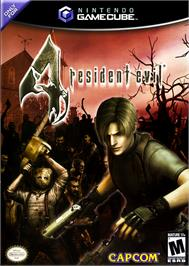 Box cover for Resident Evil 4 on the Nintendo GameCube.