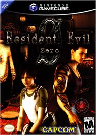Box cover for Resident Evil Zero on the Nintendo GameCube.