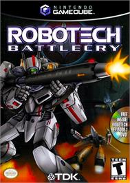 Box cover for Robotech: Battlecry on the Nintendo GameCube.
