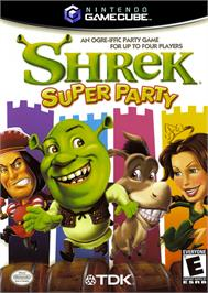 Box cover for Shrek Super Party on the Nintendo GameCube.