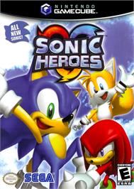 Box cover for Sonic Heroes on the Nintendo GameCube.