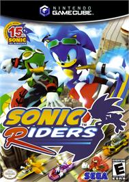 Box cover for Sonic Riders on the Nintendo GameCube.