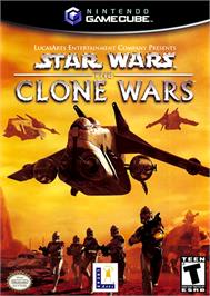 Box cover for Star Wars: The Clone Wars on the Nintendo GameCube.