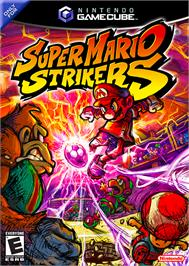 Box cover for Super Mario Strikers on the Nintendo GameCube.