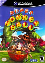 Box cover for Super Monkey Ball on the Nintendo GameCube.
