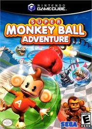 Box cover for Super Monkey Ball Adventure on the Nintendo GameCube.