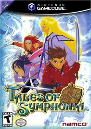 Box cover for Tales of Symphonia on the Nintendo GameCube.