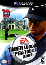 Box cover for Tiger Woods PGA Tour 2003 on the Nintendo GameCube.