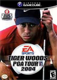 Box cover for Tiger Woods PGA Tour 2004 on the Nintendo GameCube.
