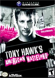 Box cover for Tony Hawk's American Wasteland on the Nintendo GameCube.