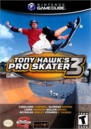 Box cover for Tony Hawk's Pro Skater 3 on the Nintendo GameCube.