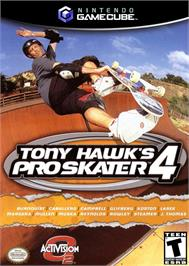 Box cover for Tony Hawk's Pro Skater 4 on the Nintendo GameCube.