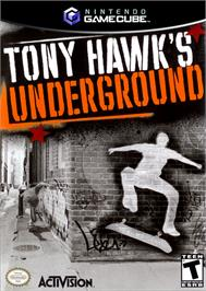 Box cover for Tony Hawk's Underground on the Nintendo GameCube.