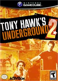 Box cover for Tony Hawk's Underground 2 on the Nintendo GameCube.