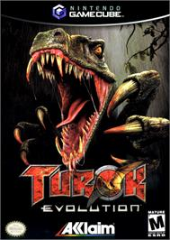 Box cover for Turok: Evolution on the Nintendo GameCube.