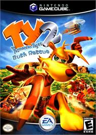 Box cover for Ty the Tasmanian Tiger 2: Bush Rescue on the Nintendo GameCube.
