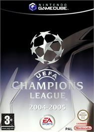 Box cover for UEFA Champions League 2004-2005 on the Nintendo GameCube.