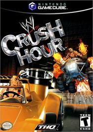 Box cover for WWE Crush Hour on the Nintendo GameCube.
