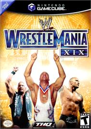 Box cover for WWE Wrestlemania XIX on the Nintendo GameCube.