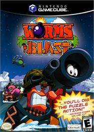 Box cover for Worms Blast on the Nintendo GameCube.