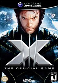 Box cover for X-Men: The Official Game on the Nintendo GameCube.