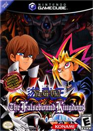 Box cover for Yu-Gi-Oh!: The Falsebound Kingdom on the Nintendo GameCube.