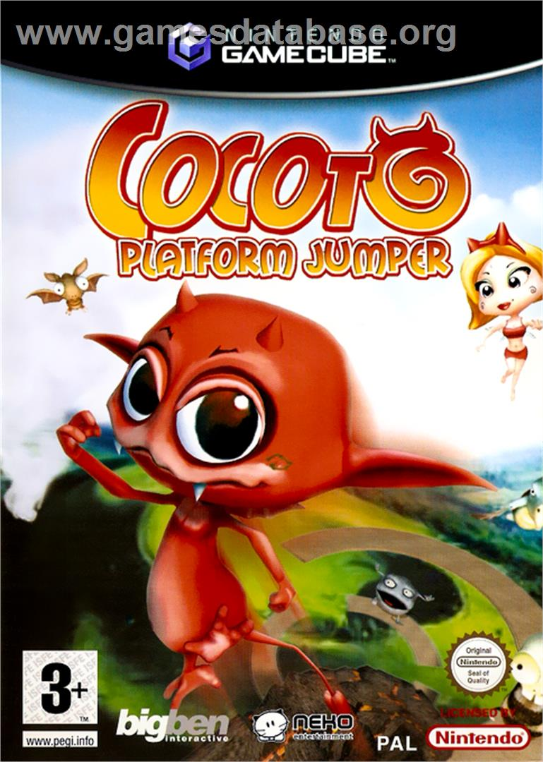 Cocoto Platform Jumper - Nintendo GameCube - Artwork - Box