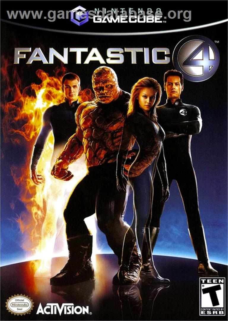 Box cover for Fantastic 4 on the Nintendo GameCube.