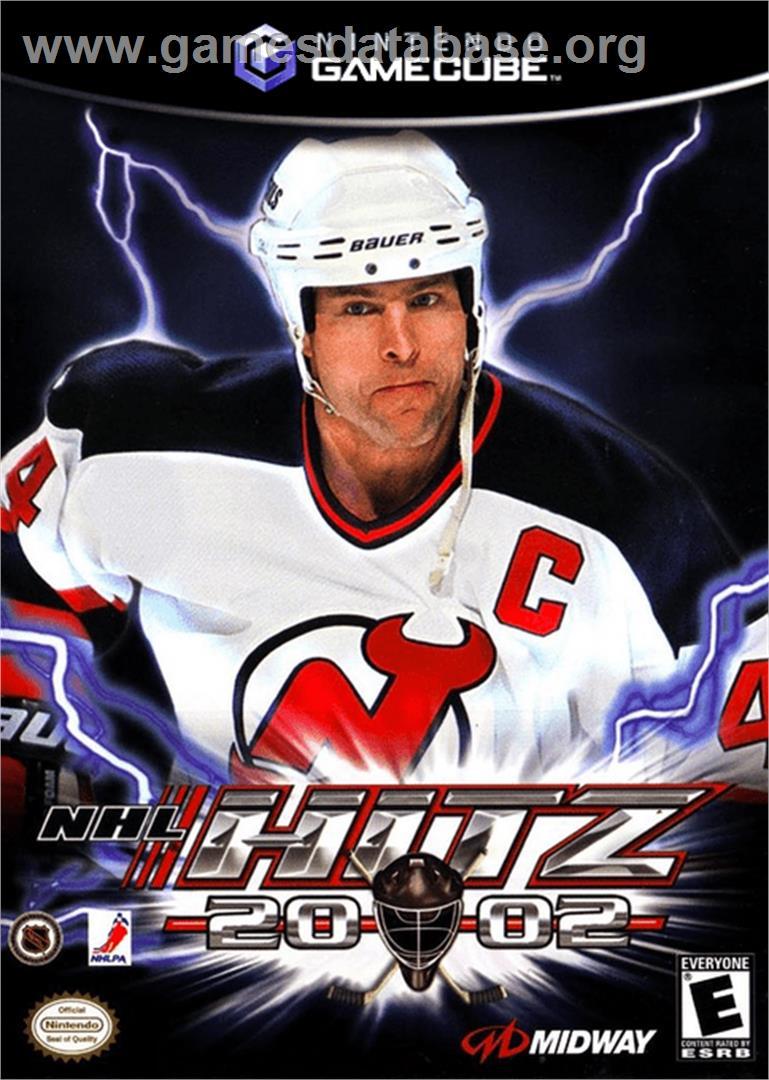 Box cover for NHL Hitz 20-02 on the Nintendo GameCube.