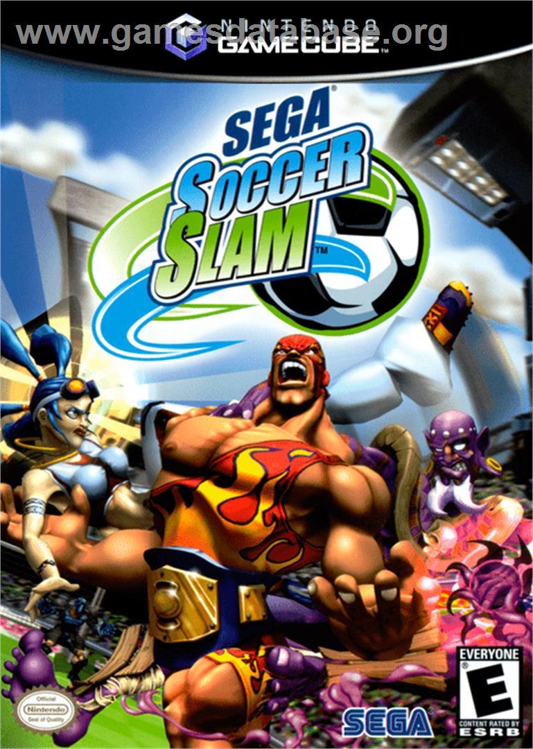 Box cover for Sega Soccer Slam on the Nintendo GameCube.