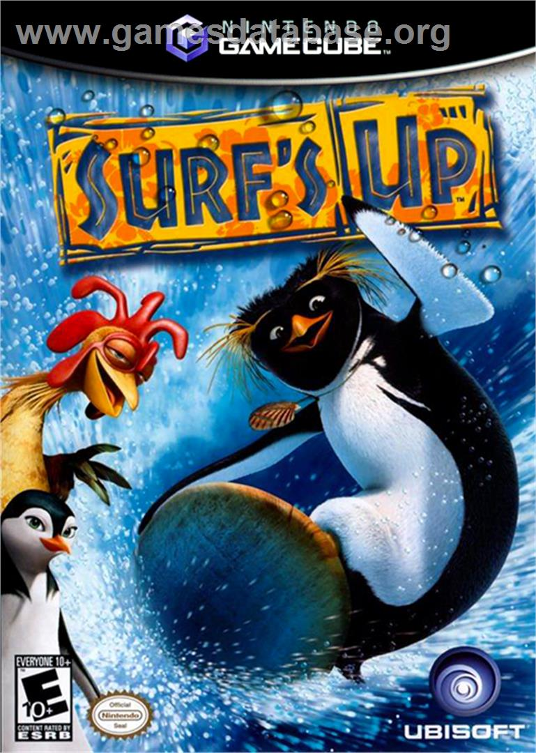 Box cover for Surf's Up on the Nintendo GameCube.