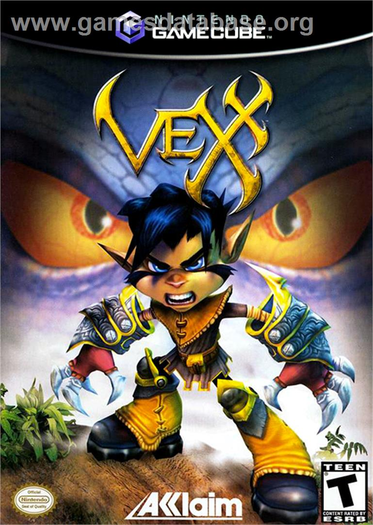 Box cover for Vexx on the Nintendo GameCube.