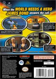 Box back cover for 007: Agent Under Fire on the Nintendo GameCube.