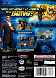 Box back cover for 007: Nightfire on the Nintendo GameCube.