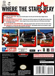 Box back cover for All-Star Baseball 2002 on the Nintendo GameCube.