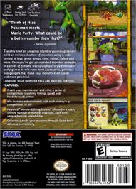 Box back cover for Amazing Island on the Nintendo GameCube.