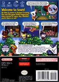 Box back cover for Animal Crossing on the Nintendo GameCube.