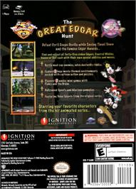 Box back cover for Animaniacs: The Great Edgar Hunt on the Nintendo GameCube.
