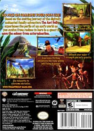 Box back cover for Ant Bully on the Nintendo GameCube.