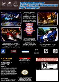 Box back cover for Auto Modellista on the Nintendo GameCube.