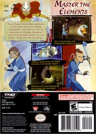Box back cover for Avatar: The Last Airbender on the Nintendo GameCube.